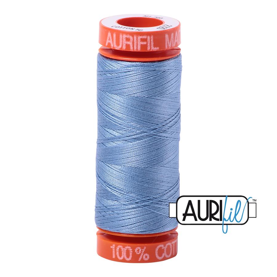 Aurifil ~ 50wt ~ 200metres ~ 2720 ~ Light Delft Blue