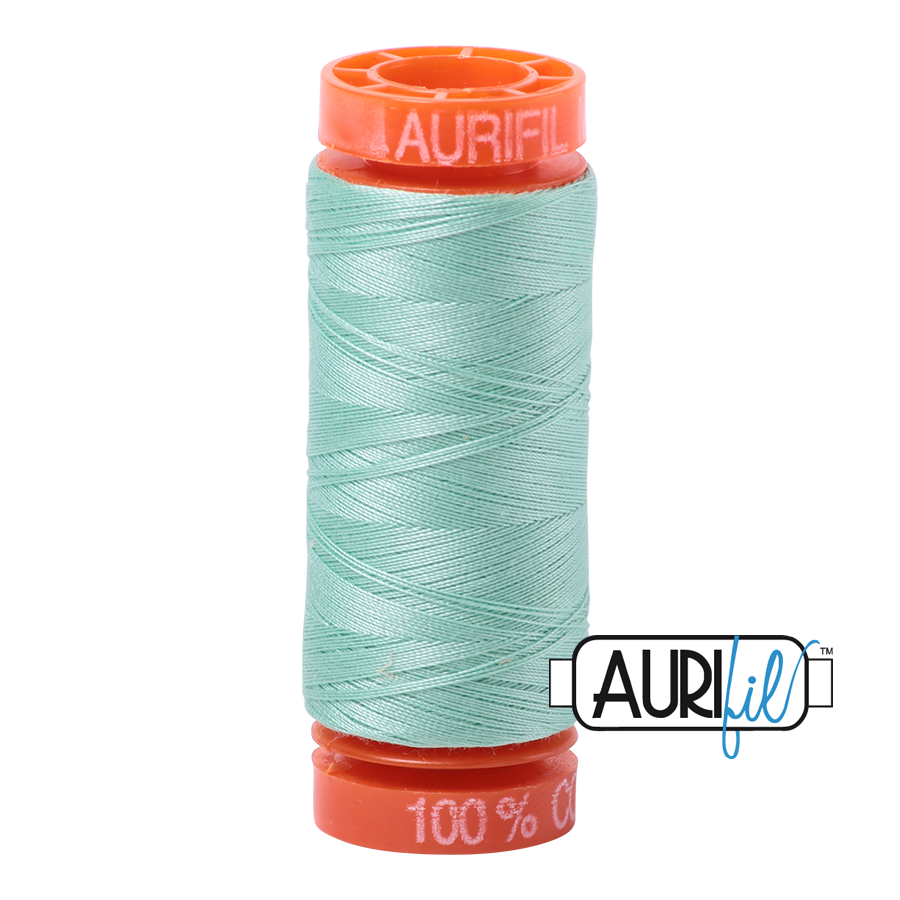 Aurifil ~ 50wt ~ 200metres ~ 2835 ~ Medium Mint