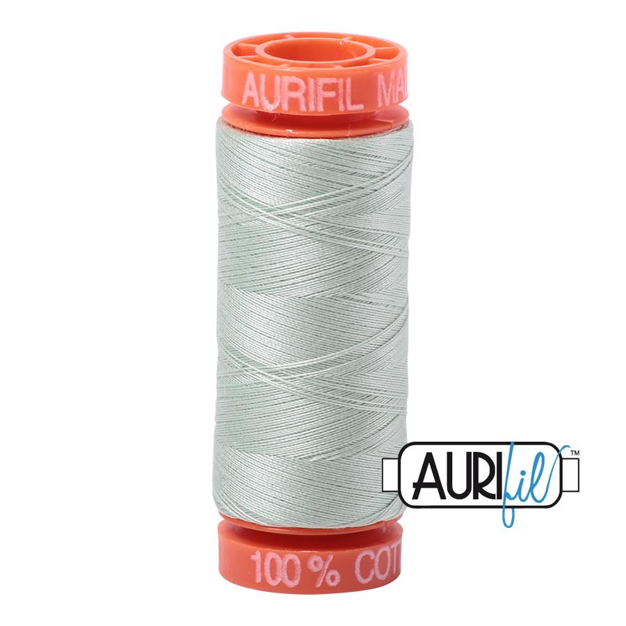 Aurifil ~ 50wt ~ 200metres ~ 2912 ~ Platinum