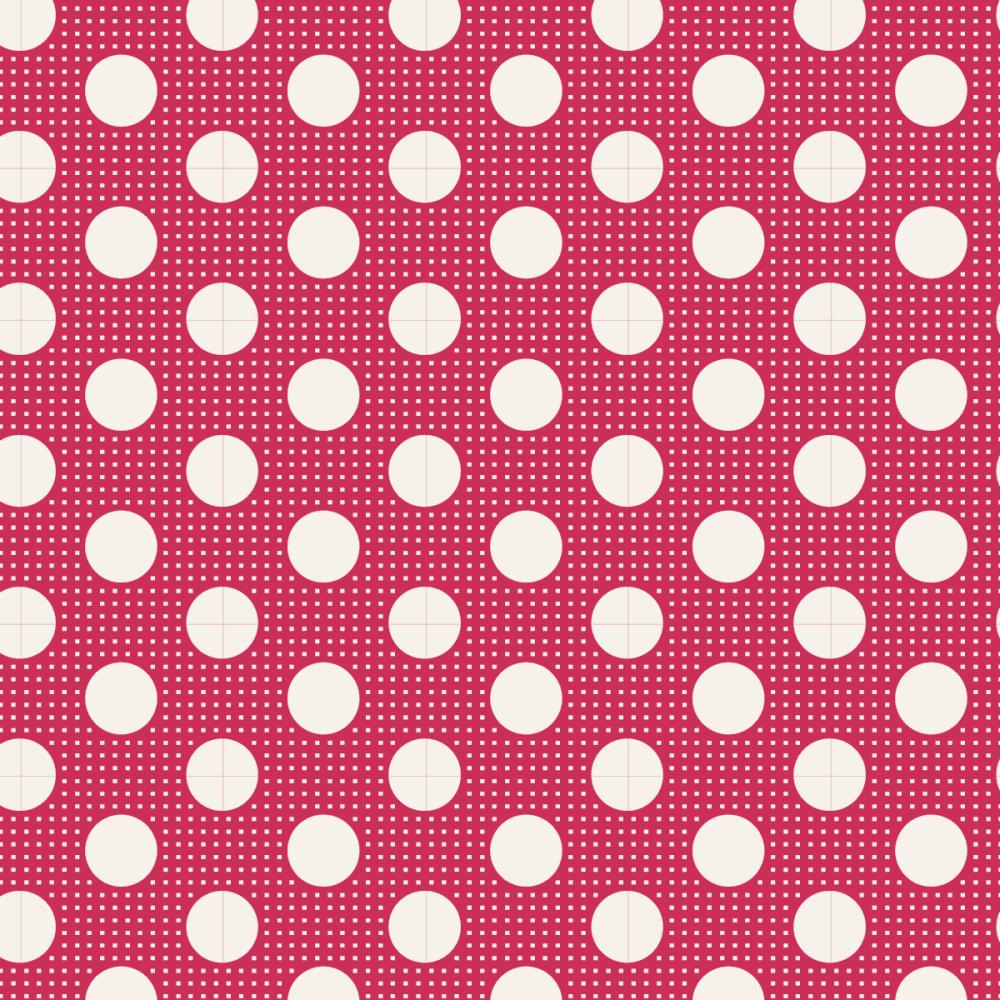 Tilda  ~ Basics ~ Medium Dots ~ Red
