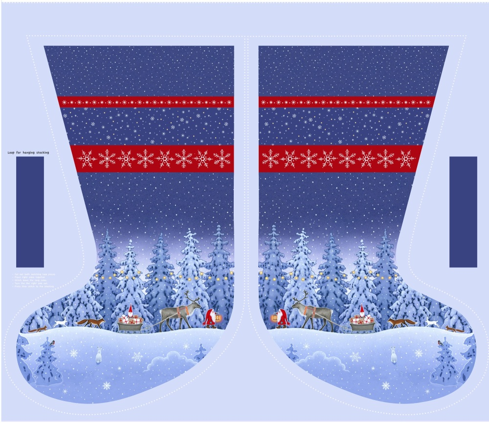 Tomten's Christmas ~ Lewis and Irene ~ Stocking Panel