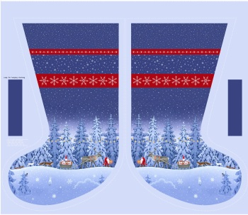 Tomten's Christmas ~ Lewis and Irene ~ Stocking Panel