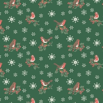 A Festive Collection ~ Liberty of London ~ Jolly Robin ~ Green