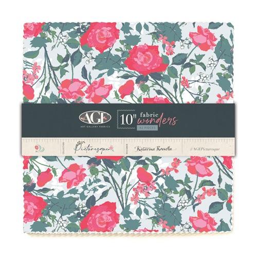 Picturesque ~  Fabric Wonders  Pre Cuts ~ 25cm x 25cm (10 x 10 inch) Square