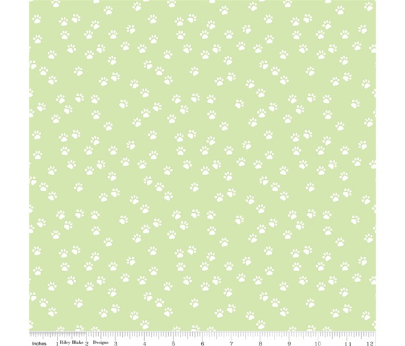 Purrfect Day ~ Riley Blake Designs ~ Paws ~ Mint Green