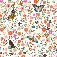 Aviary ~ Dashwood Studio ~ Butterflies ~ White