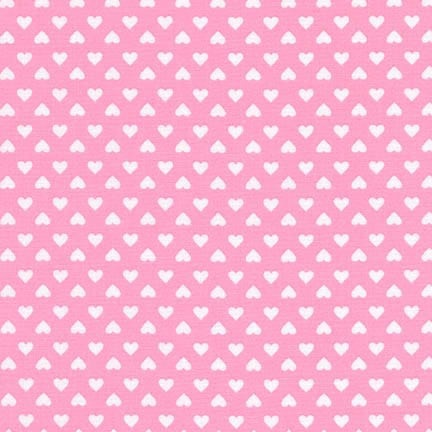 Classiques ~ Hearts ~ Small White Hearts  on  Pink ~ Sevenberry
