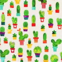 Chilli Smiles ~ Ann Kelle ~ Robert Kaufman ~ Cactus ~ Ivory