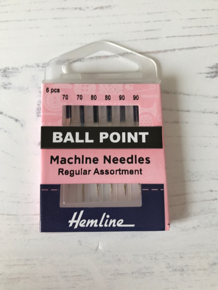 Hemline Sewing  Machine  ~ Ball Point Needles ~ Regular Assortment