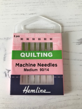 Hemline  Sewing Machine  ~ Quilting Needles ~ Medium 90/14
