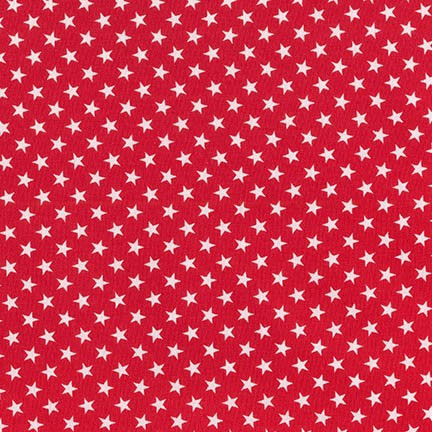 Classiques ~ Stars ~ Small White Stars on Red ~ Sevenberry