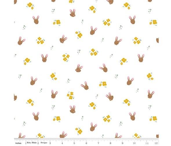 Easter Egg Hunt ~ Riley Blake Designs ~ Bunnies ~ White