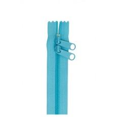 Double Slide Handbag Zipper ~ By Annie ~ 30 Inch ~ Parrot Blue