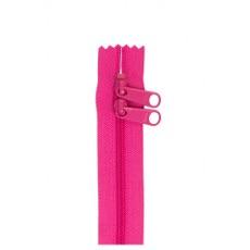 Double Slide Handbag Zipper ~ By Annie ~ 30 Inch ~ Raspberry