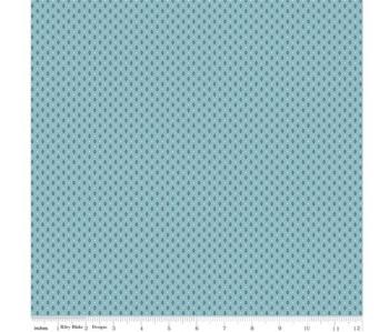 Notting Hill By Amy Smart ~ Riley Blake Designs ~ Diamond ~ Blue Denim