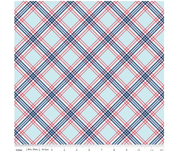 Notting Hill By Amy Smart ~ Riley Blake Designs ~ Plaid Blue