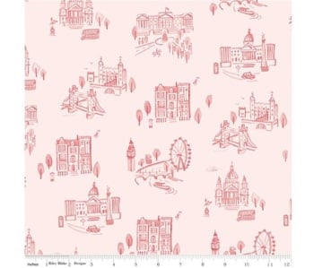 Notting Hill By Amy Smart ~ Riley Blake Designs ~ London ~ Pink