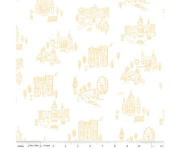 Notting Hill By Amy Smart ~ Riley Blake Designs ~ London ~ Yellow