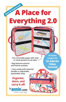 By Annie ~ A Place For Everything Organiser 2.0  Bag Pattern