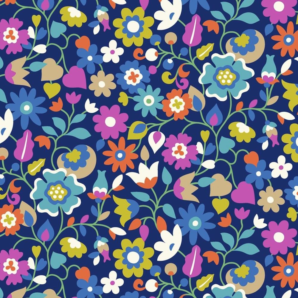 Kaleidoscope Ace  ~ Cotton Lawn ~  Dashwood Studio ~ Large Flowers on Purpl