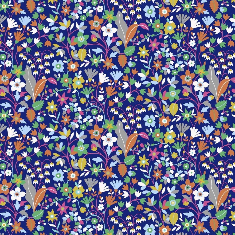 Kaleidoscope Ace  ~ Cotton Lawn ~  Dashwood Studio ~ Wild Flowers on Purple