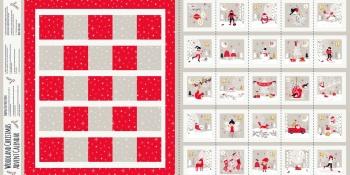 Woodland Christmas Advent Calendar Panel ~ Dashwood Studio