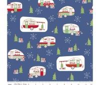 Christmas Adventure ~ Beverly McCullough ~ Riley Blake Designs ~ Main ~ Denim