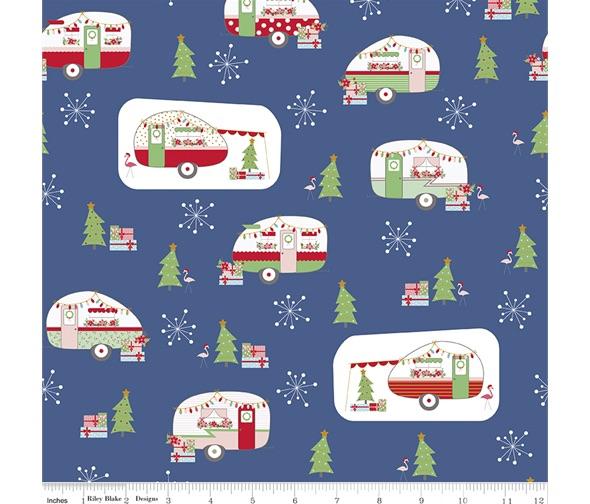 Christmas Adventure ~ Beverly McCullough ~ Riley Blake Designs ~ Denim