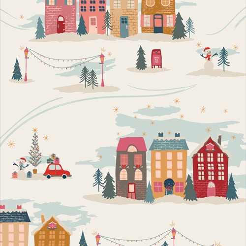 Cozy and Magical ~ Art Gallery Fabrics ~ Christmastide Town