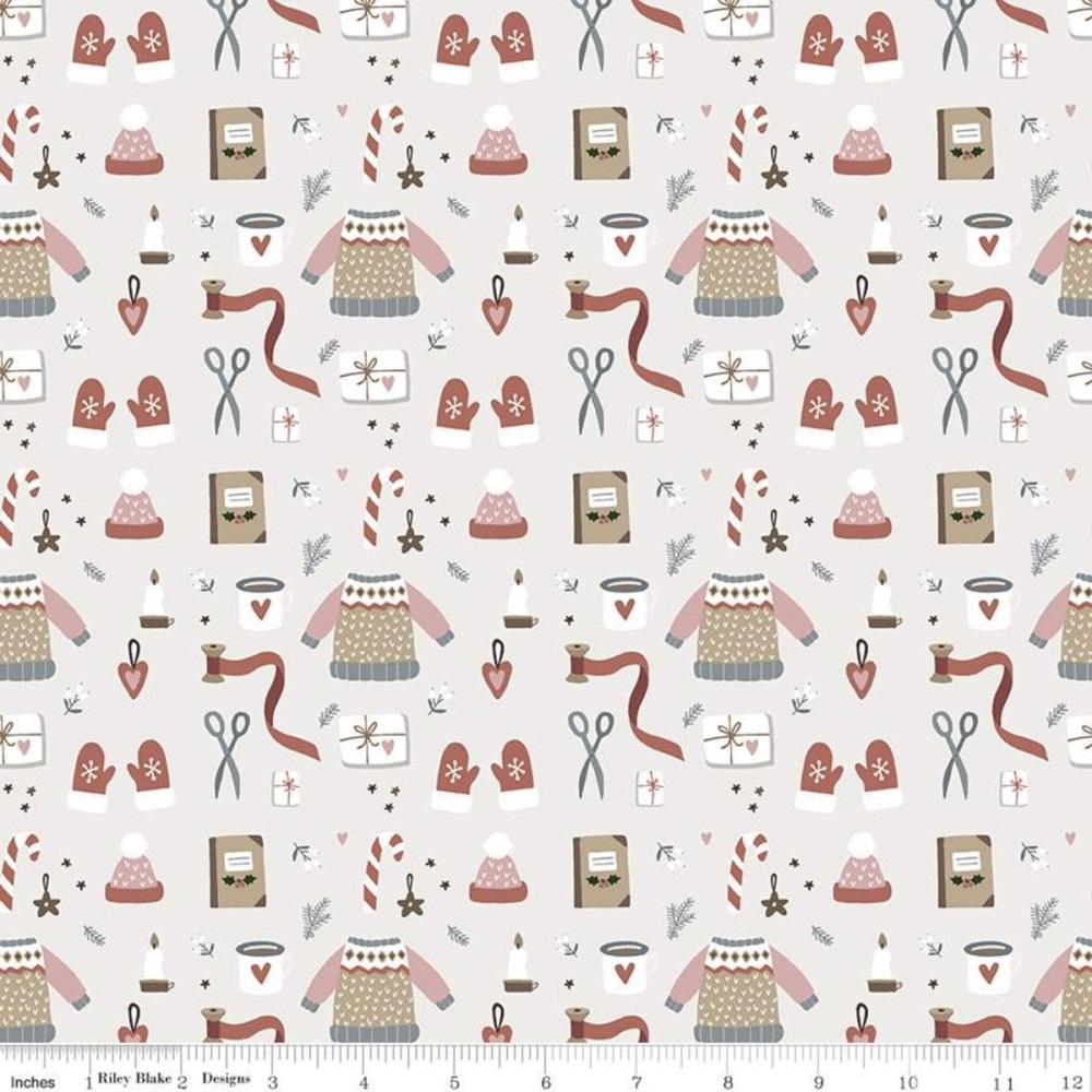 Warm Wishes ~ Riley Blake Designs ~ Winter Wear  ~ Parchment