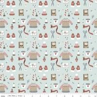 Warm Wishes ~ Riley Blake Designs ~ Winter Wear  ~ Sky