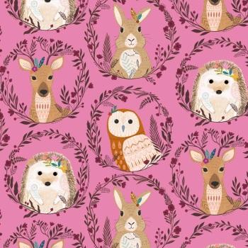 Wild ~ Bethan Janine ~ Dashwood Studio ~ Animal Wreaths ~ Pink