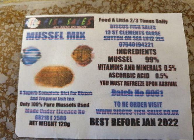 Mussel MIx 5 x 120g packs