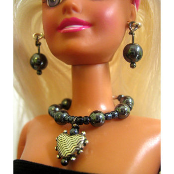 Handmade doll jewelry set for 12 inch fashion dolls