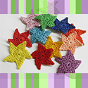 Crocheted stars