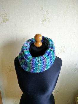 Colorful infinity scarf, neck warmer, made by BeautifulAndWarm (BW002)
