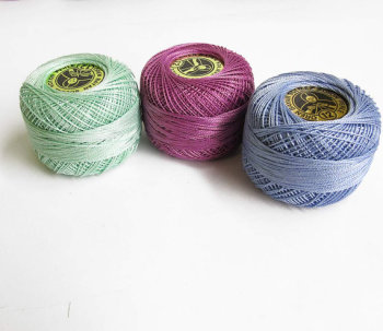 Cotton thread Perle 12, pearl cotton, embroidery thread, 3 pc. (E50023)