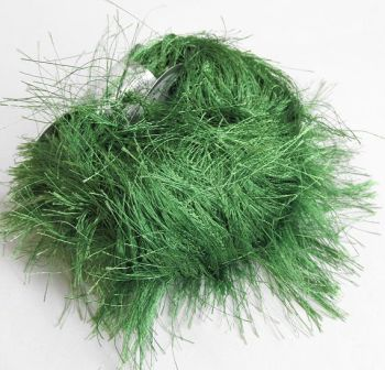 Long eyelash yarn, green, 1 skein (E50026)