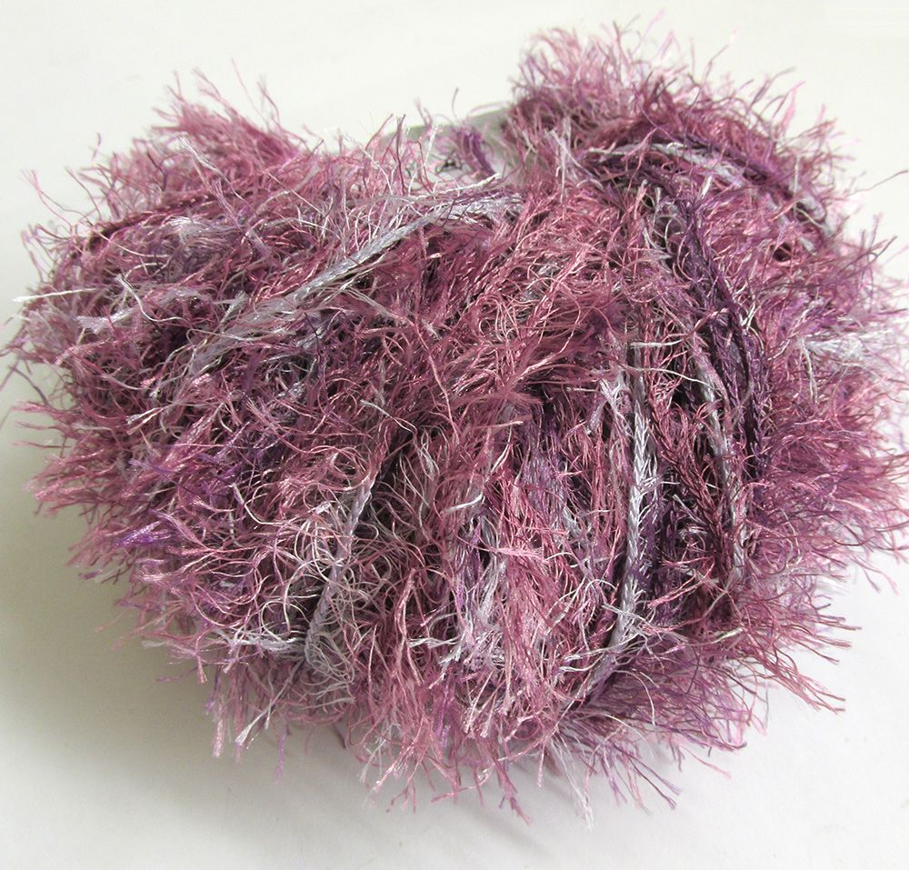 Eyelash yarn, Fun Fur, purple mix, 1 skein (E50031)