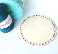 Wooden base for crocheted baskets ROUND (medium)
