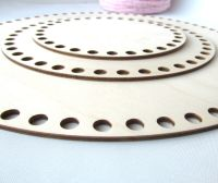 Wooden base for crocheted baskets ROUND (large)