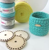 Wooden bases for crocheted baskets ROUND (very small)