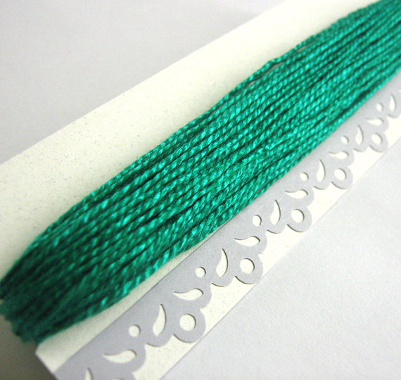 Cotton thread, 15 yards, jade green, mercerized cotton