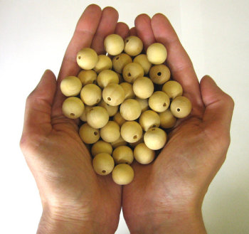 Wooden beads 16 mm 50 pc round unfinished (C30002)