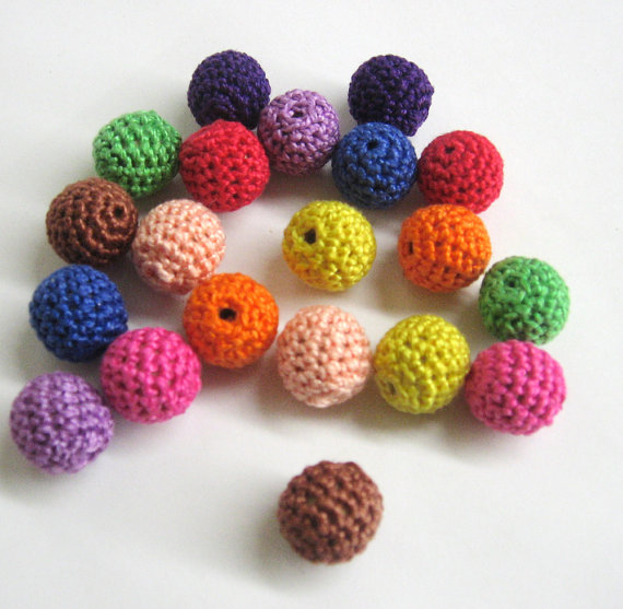 Colourful bead mix, 20pc.