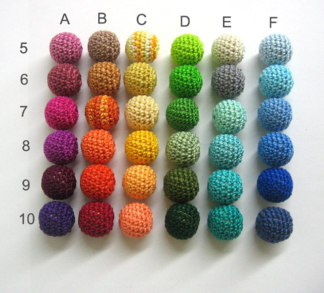 Crocheted beads available colors