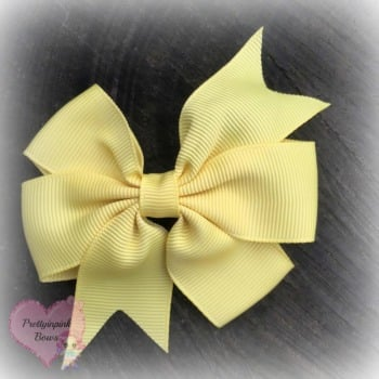 Double Loop Plain Pinwheel - Lemon ~ On Croc Clip