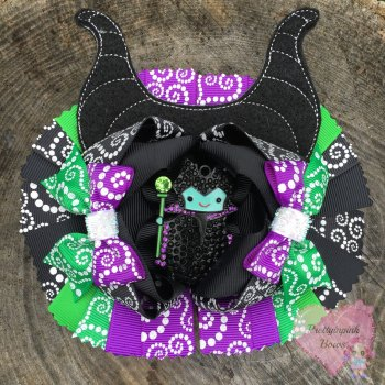 Pageant Bow - Maleficent Inspired