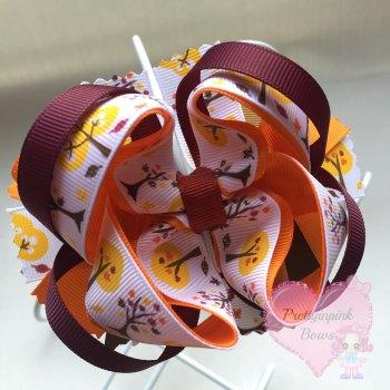 Princess Bow - Autumn ~ On Croc Clip