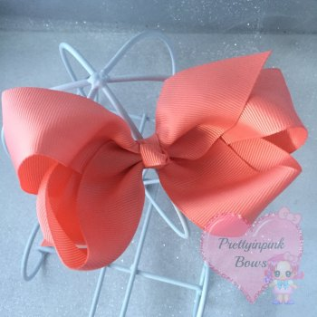 "4"" Boutique Bow On Croc Clip ~ Watermelon"
